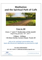 Meditation and the Spiritual Path of Cafh